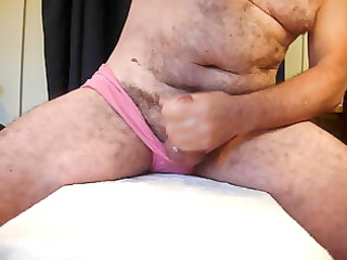 cumming in my wifes pink lingerie for a xhamster
