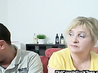 granny pair seduces newlyweds