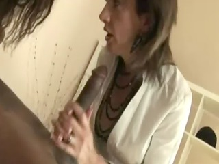 cougar lingerie bitches greedily lick ebony penis