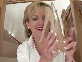 grownup femdom brit shoe posing exposed