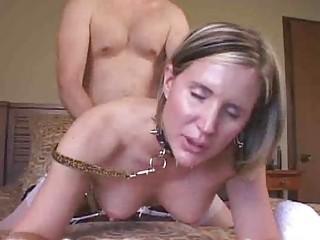 woman bangs her master
