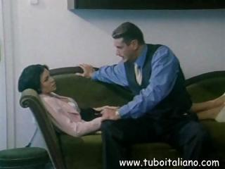 brunette italian lady gets tasted and fucked into