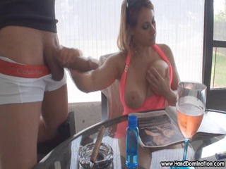 huge breast cougar girl boobs has her way with
