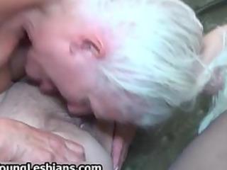 extreme grandma having homosexual woman fuck part4