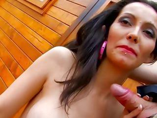 spanish older lady masturbates penis on camera