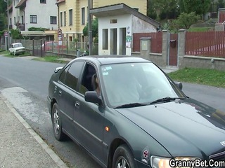 he picks up and drills her elderly prostitute
