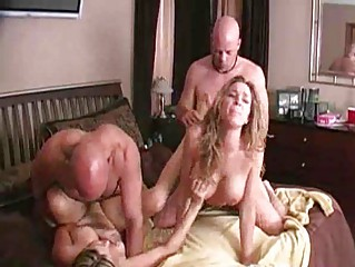 naughty girlfriends swap husbands! woman 4some!