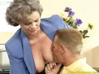 mad old chick acquires cock drilled into the