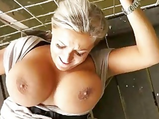 horny milf drilled in open-air for money