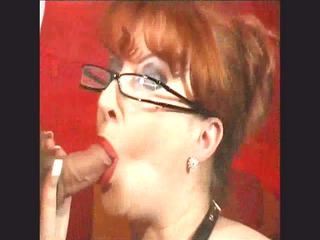 very impressive redhead mature chick gets facial