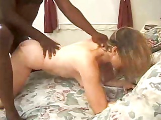 babe filmed taking her first ebony meat !
