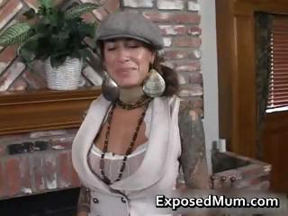 round bigtits tattooed woman fireplace part3