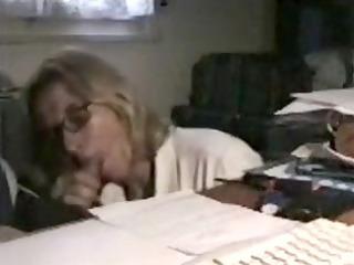 grownup teacher secretly blowing her more