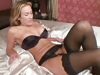 grownup into nylons toys her vagina