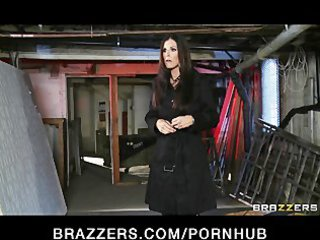 curious brunette lady india summer tries some