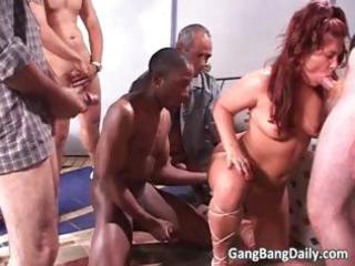 divorced chubby mommy acquires gang drilled part5