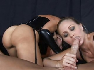 brunette and blond grown-up whores tasting libido