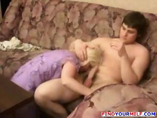 naughty blonde russian woman helps with homework