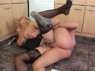 monstrous boobies blonde granny still fucking