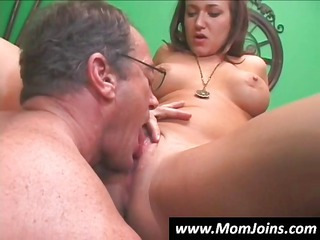 inexperienced lean brunette with her lady takes