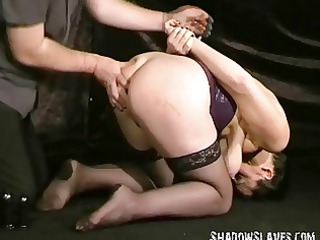 buttplugged older girl slaves humiliation and