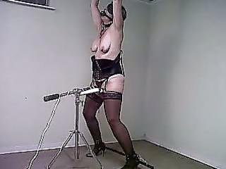 woman tied n vibed
