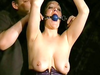 whipping to tears of cougar young slave china