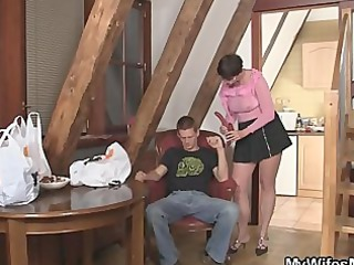 horny mother into law jumps on his libido