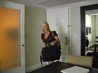 blonde angel has drill with amateur man