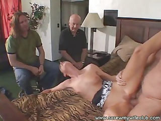hubby watched her sexy lady sucked a big libido