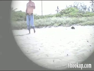 housewife lana masturbating at the naked shore