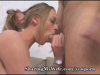 sissy hubby shares wifes super cavity