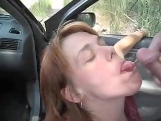 car oralservice pleasure and cumshots flow with a
