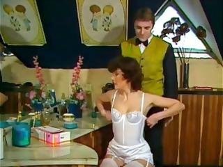 classic drill clip of a woman into clean brief