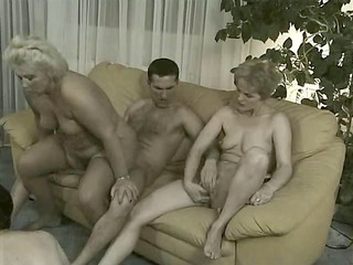 grannies in bunch gang bang - 4 old chicks &;
