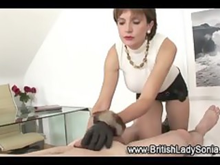 cougar nylons amp gloved handjob