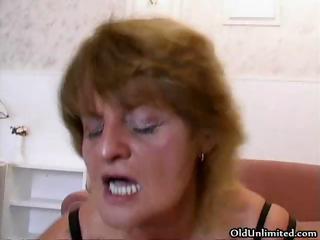 horny grandma likes driving giant amateur part5