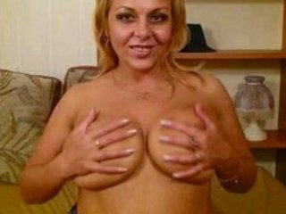 squeezing mature maiden with big chest