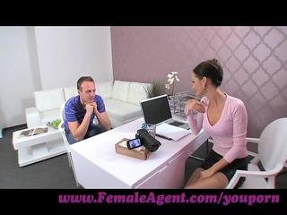 femaleagent. lady seduces hesitant stud