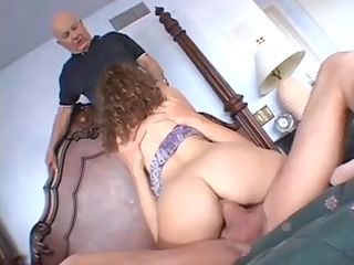 sweet housewife receives screwed hard by 2 aged