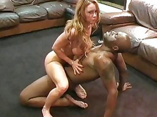 sweet grown-up inexperienced girl and her brown