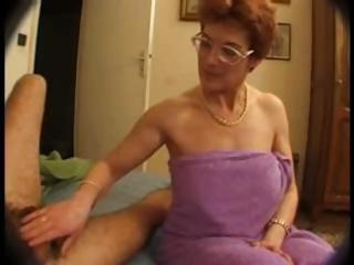 hairy cougar in glasses takes on two libidos and