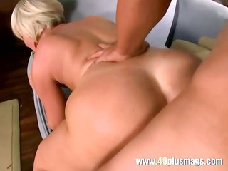 mature blonde divorcee with vibrator hunk