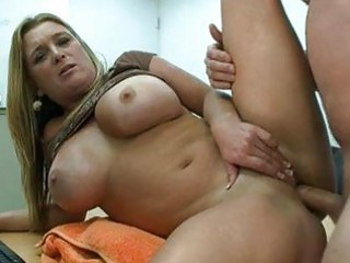 fat pale babe with huge tits gets pierced uneasy