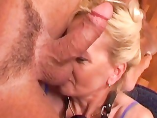 sperm eating grown-up blonde ablaze...