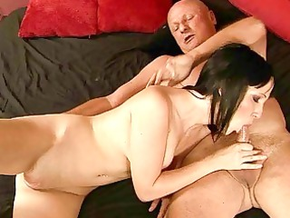 inexperienced gang-banging with enormously granny