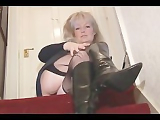 mature desperate albino lady inside nylons and