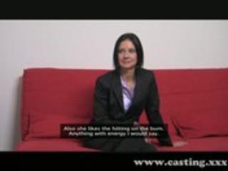 casting business cougar chick enjoys the libido