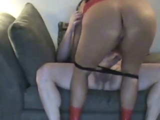 super chubby woman with giant butt rides cock by