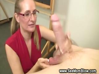 grownup professor tasting a penis